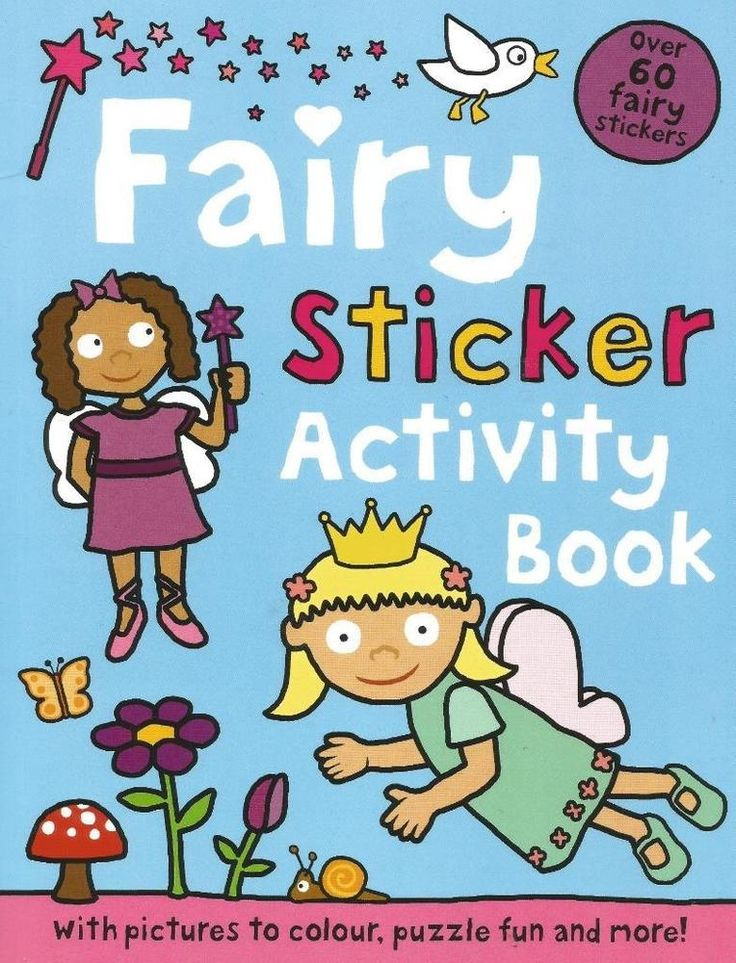 Fairy Sticker Activity Book - Over 60 Fairy Stickers - Puzzles - NEW