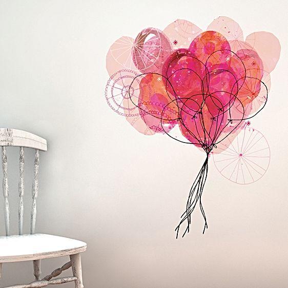 Sweet William Carnival Balloon Wall Decal by Little Sticker Boy