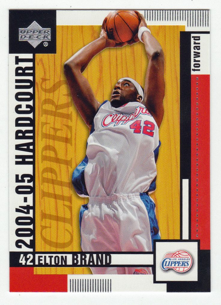 Elton Brand # 35 - 2004-05 Upper Deck Hardcourt Basketball