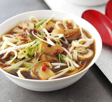 ✻ ✻ Quick & easy hot-and-sour chicken noodle soup ✻ ✻ Recipe: http://www.bbcgoodfood.com/recipes/412630/quick-and-easy-hotandsour-chicken-noodle-soup