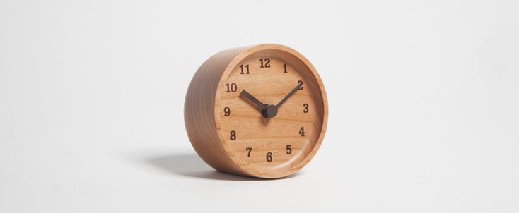 Lemnos Muku Desk Clock (Alder) - Kaufmann Mercantile