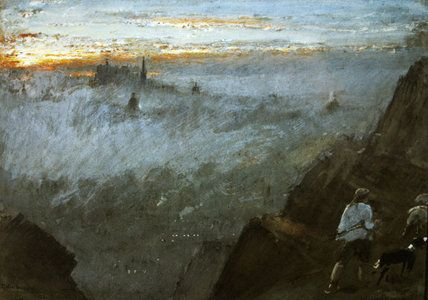 Edinburgh De Salisbury Crags de Albert Goodwin (1845-1932, United Kingdom)