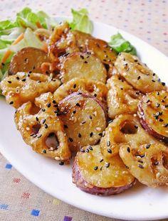 マジ旨!薩摩芋とレンコンのデパ地下風 by moj [クックパッド] 簡単おいしいみんなのレシピが219万品