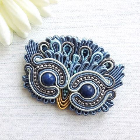 Owl brooch, make it out of clay.