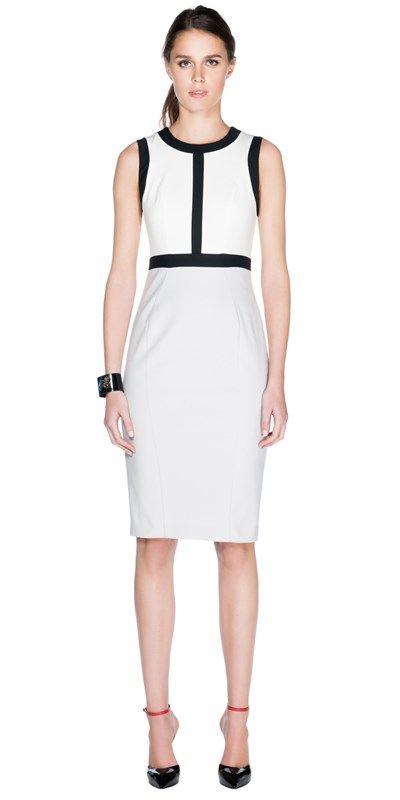 CUE - Stretch Cotton Contrast Dress