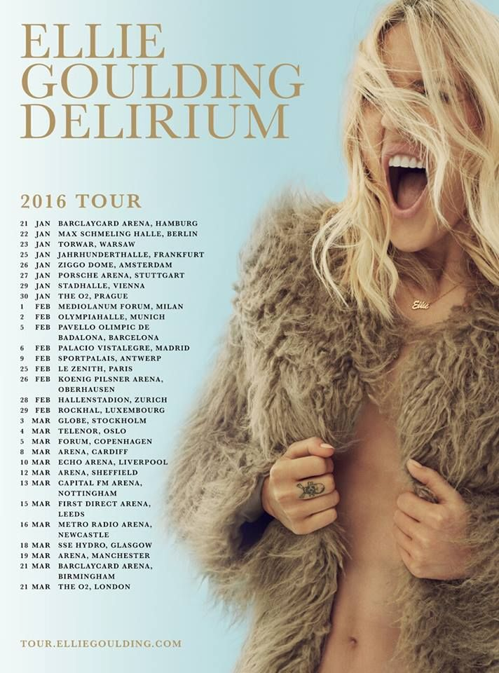 Delirium World Tour -Ellie Goulding. I was there on the 13th March!!!!