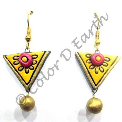 Trendy Terracotta Earrings – 203