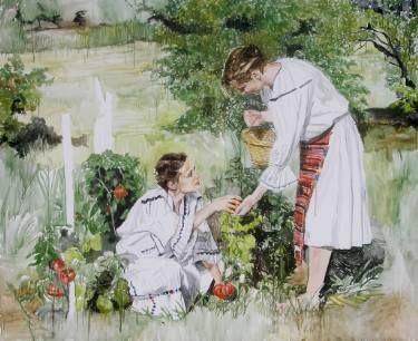 """Saatchi Art Artist Helena Janecic; Painting, """"In the garden SOLD"""" #art"""