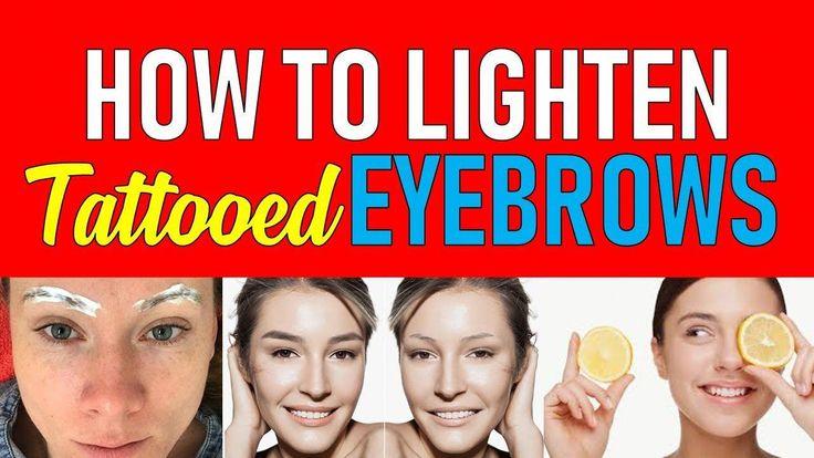 How to lighten tattooed eyebrows youtube eyebrow