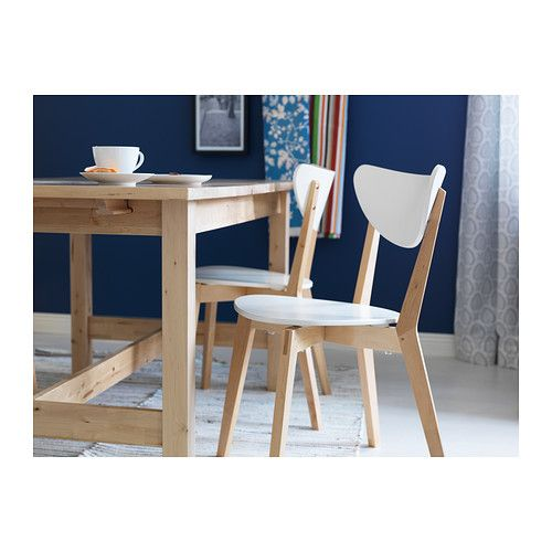 NORDMYRA Chair IKEA You can stack the chairs, so they take less space when you're not using them. You sit comfortably thanks to the shap...