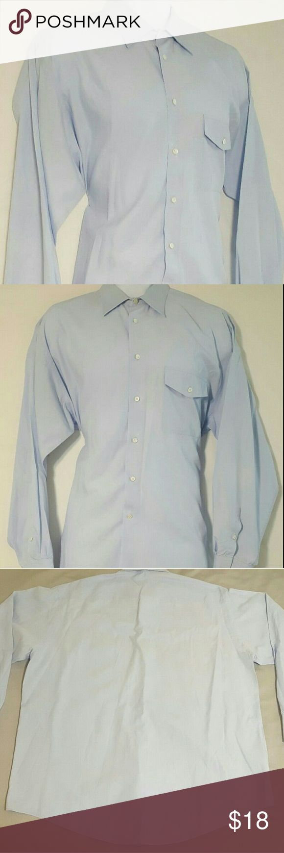 Giorgio Armani Le Collezioni 17.5 Dress Shirt Giorgio Armani   Le Collezioni  Button-down  Dress Shirt   Pre-owned - Used  Medium Wear  Slight Discolorations   Blue  Men's Size 17.5 - 34/35  Cotton Blend  Unknown Country   Fast Shipping and Handling   Love The Item but,   Not The Price?   Make An Offer! Giorgio Armani Shirts Dress Shirts