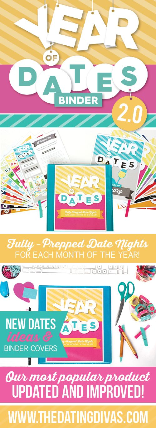 A year of dates fully prepped and ready to go! I love that you can keep all of the Date nights for each month in a cute binder! What an easy and meaningful last minute gift idea, too!