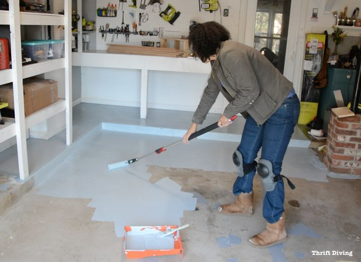 Part Epoxy Paint Garage Floor