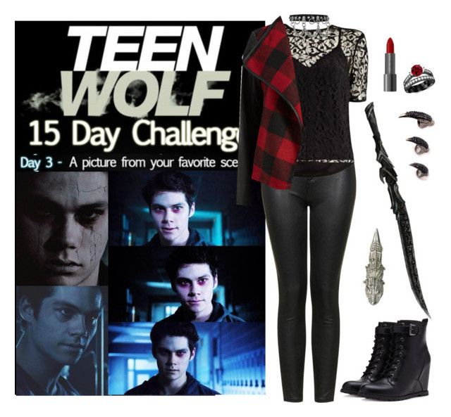 Teen Wolf Challenge: (3) Favorite scene by vampirliebling on Polyvore featuring mode, Maiyet, Parisian, Topshop, Forever 21, fandom, TeenWolf, StilesStilinski, Stiles and nogitsune