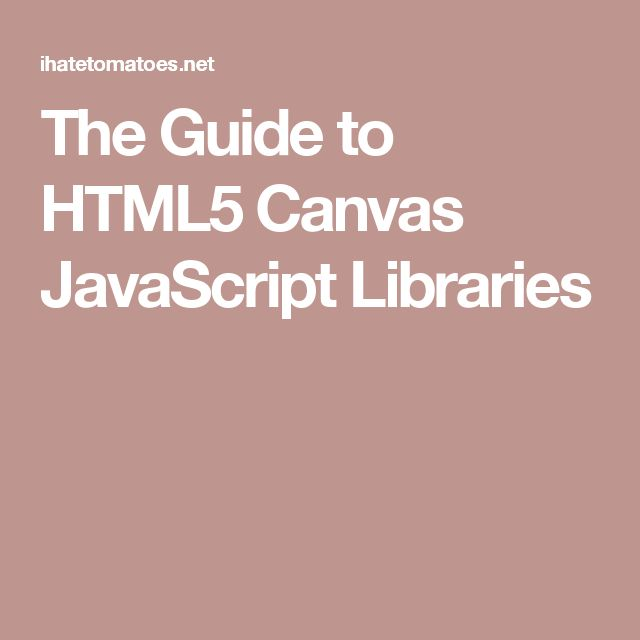 The Guide to HTML5 Canvas JavaScript Libraries