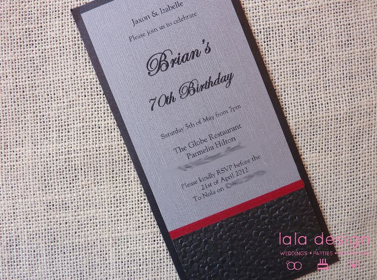 1000 images about Male Birthday Invitations – Birthday Invitations Perth
