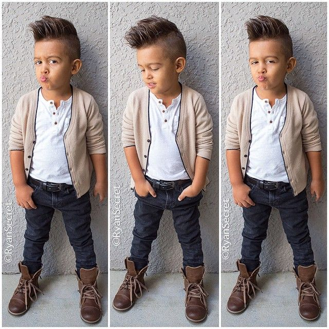 Kid Haircuts With Outfit