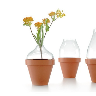 Pot Vase - use cut off parts of plastic bottles or hurricane tops?: Pot Vases, You, Glass Vase, Clever Ideas, Decovery Ideas, Products, Flower
