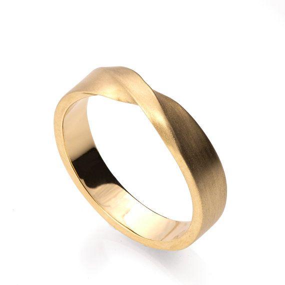 Mobius Ring 18k Gold Ring Ehering Gold von DoronMeravWeddings