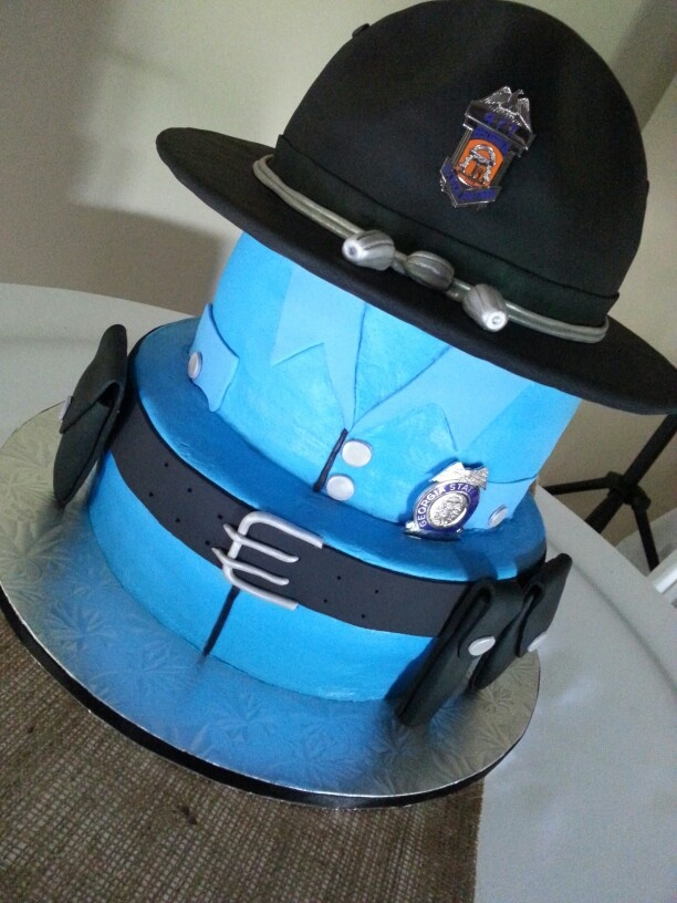 State Patrol Grooms Cake Custom Cakes I Made Pinterest
