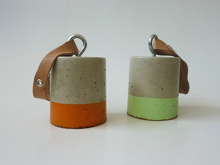 Concrete Door Stop | Orange and Green | Family Tree | Streethub | 6 Industrial Home and Gift Ideas