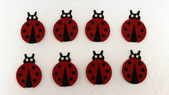 Felt ladybug for craft and embellishment 10 pieces perfect