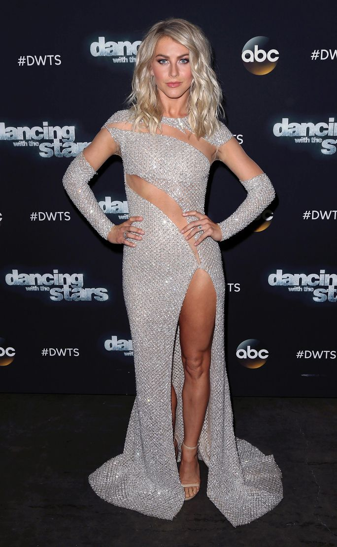 Julianne Hough wowed on Dancing With the Stars in a sparkling gown.