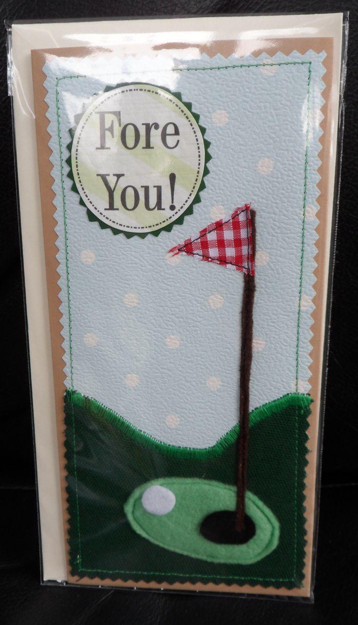 Golfing Fabric Card