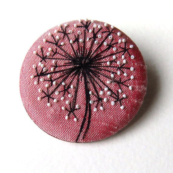 Hey, I found this really awesome Etsy listing at https://www.etsy.com/listing/264348816/dandelion-flower-brooch-hand-embroidery