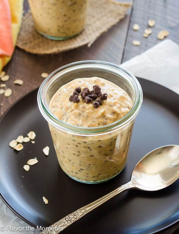 Pumpkin Chia Overnight Oats are creamy overnight oats with chia seeds to make them even more nutritious! They're the perfect healthy, grab 'n go breakfast!