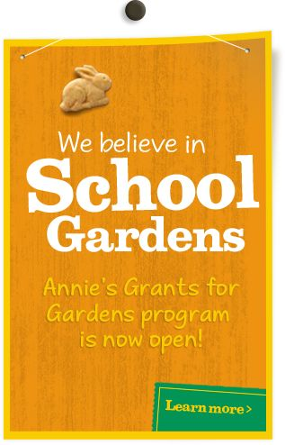 What better way to teach a love of the earth than through a garden? Annie's Homegrown offers grants to school gardens that connect children directly to real food.