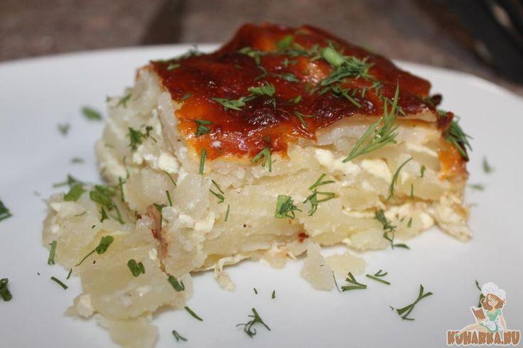 Картофельный гратен с колбасным сыром