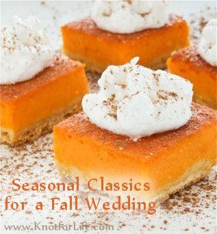 fall wedding food | Fall Wedding Food and Menu Ideas