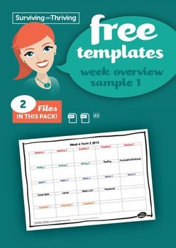 WEEKLY PLAN OVERVIEW SAMPLE 1