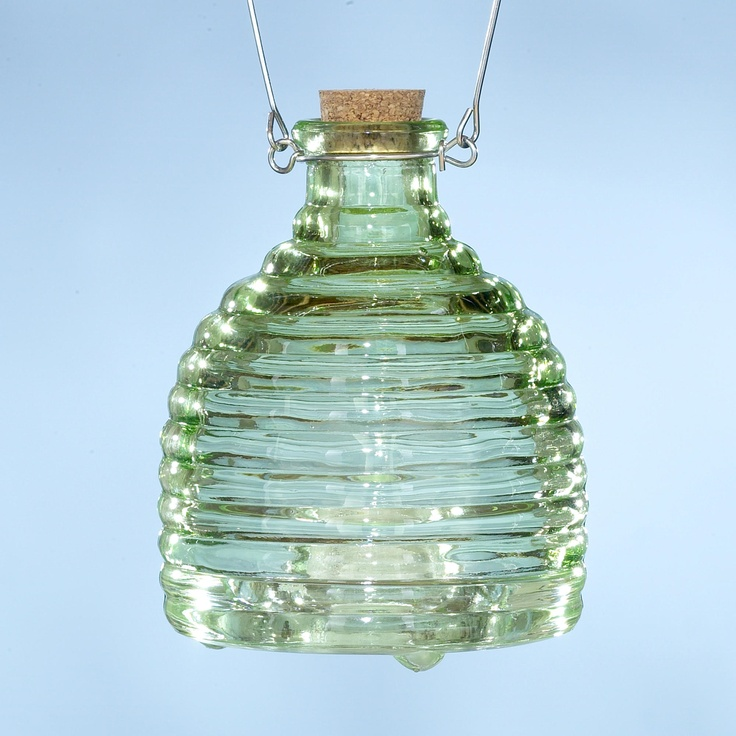Glass Wasp Catcher, Green | World Market $8.99