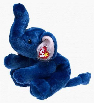 Retired 19207: Ty Beanie Buddy - Peanut The Elephant Royal Blue Version By Beanie Buddies -> BUY IT NOW ONLY: $121.12 on eBay!