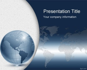 Free Virtual World PowerPoint Template, #free business template for online trading and virtual teams who need to make PowerPoint presentations related to Internet or communications