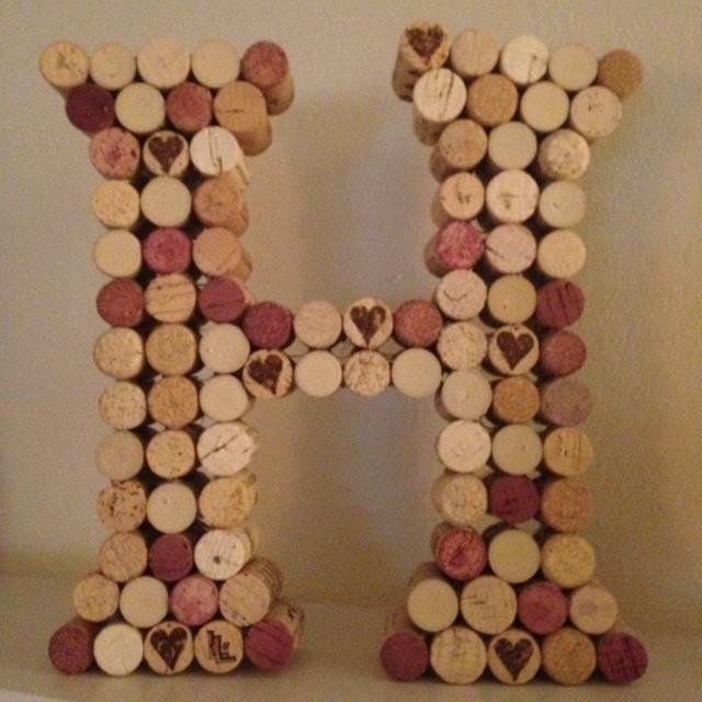 Wine cork DIY letter that I made