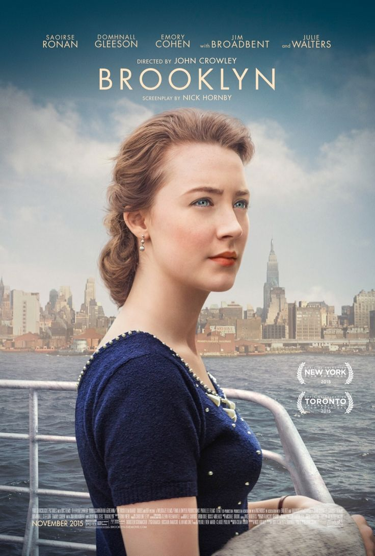 Saoirse Ronan on Brooklyn movie poster. Photo: © 2015 Twentieth Century Fox Film Corporation