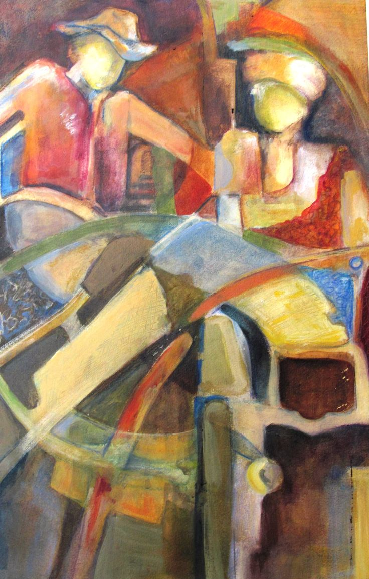 Abstract Figurative Paintings Jim Carpenter Day  Pause Image