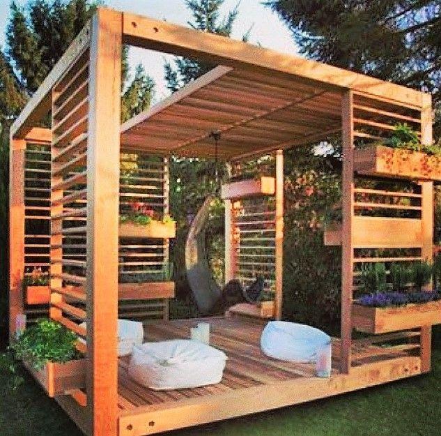 Wooden Pallet Pergola Deck Idea Backyard Gazebo Pergola Backyard