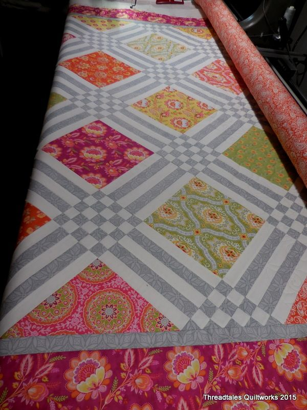 Bright, pieced quilt