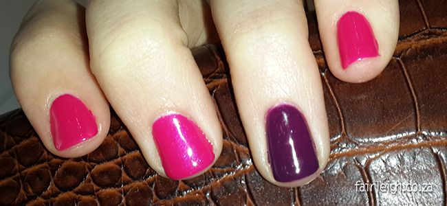 #MidWeekMani - Gelish in Gossip Girl & Plum and Done - FairLeigh - The Girlier Side of a Geek