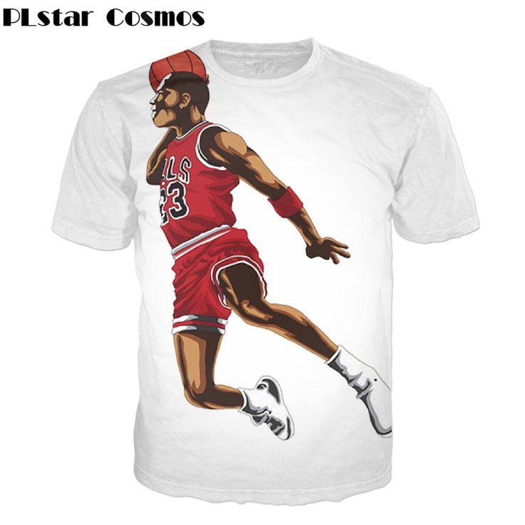 PLstar Cosmos Free shipping! 2017 Newest Jordan 3d t shirt Men/Women Casual t shirt summer style Hip hop tops plus size S-5XL #Affiliate