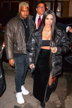 Kim Kardashian & Kanye West from The Big Picture: Today's Hot Photos  Date night! The power couple are spotted arriving at Carbone restaurant for a romantic Valentine's Day dinner in Soho, New York.