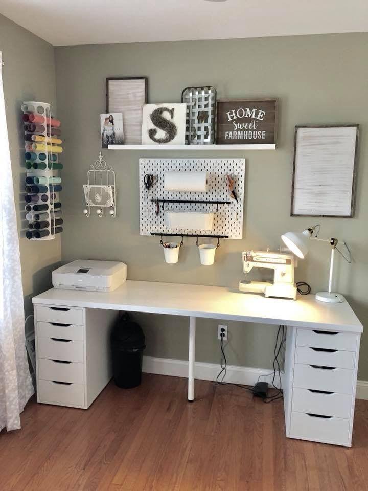 Alex Center Drawer Leg Linnmon Office Organization At Work Desks Table Top Units In 2020 Home Office Design Ikea Craft Room Home Office Decor