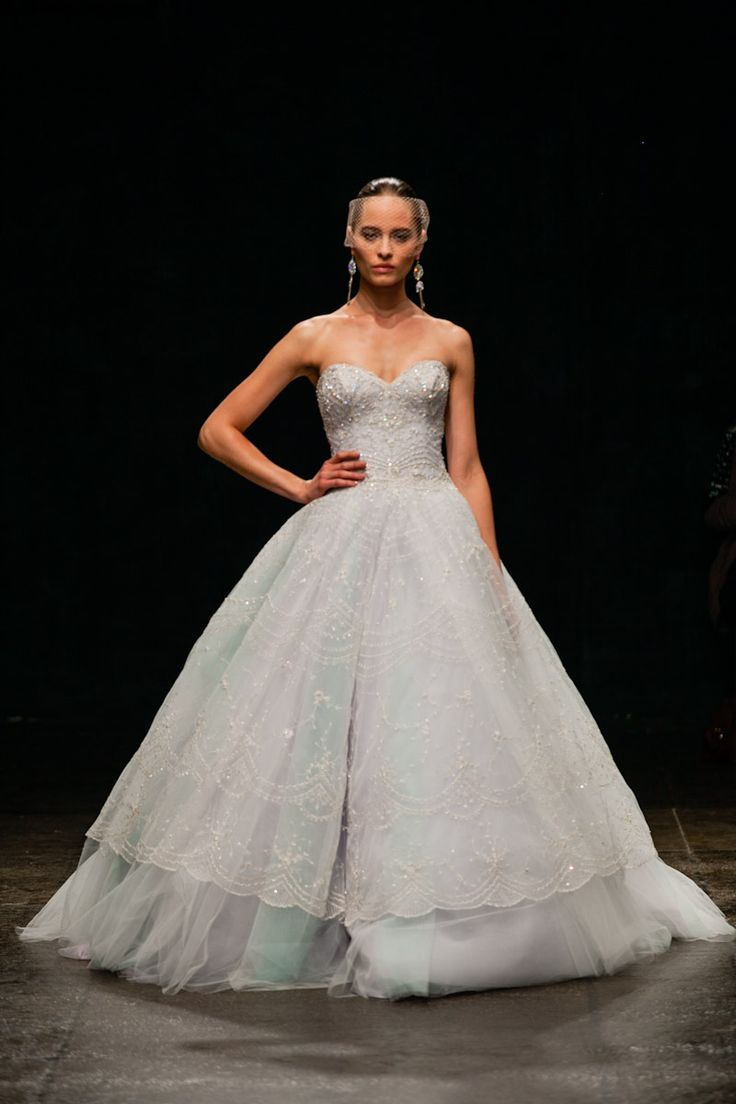 Pastel wedding gowns