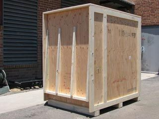 how to build a wooden shipping crate