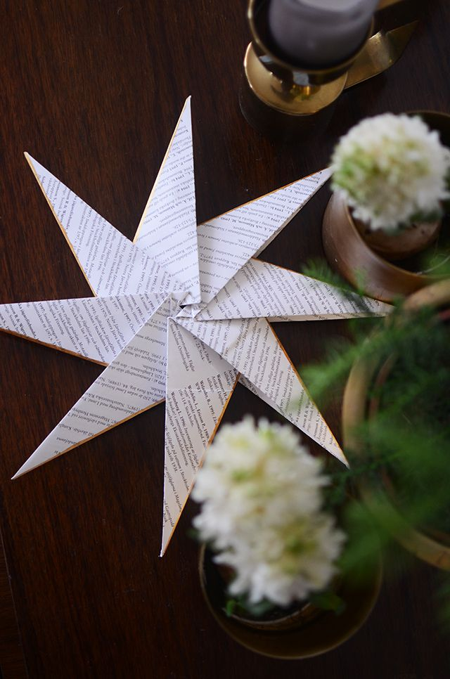 Fold beautiful paper star with a silver lining | At home with Helena