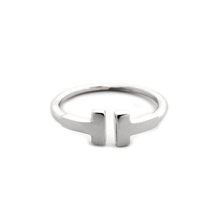 Solid Sterling Silver T Square Double Bar Open Adjustable Ring * Learn more by visiting the image link. (This is an Amazon Affiliate link and I receive a commission for the sales)